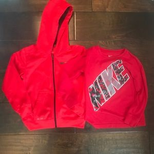 Boys Nike Jacket and Long Sleeve Set - Size 6 EUC